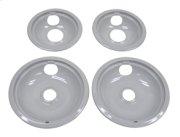 "Grey Drip Bowl Set, 2-6"", 2-8"" Product Image"