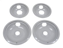 "Grey Drip Bowl Set, 2-6"", 2-8"""
