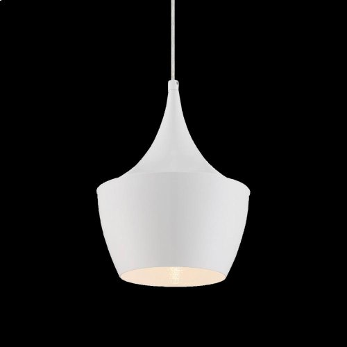 1-LIGHT PENDANT - White