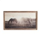 Framed Slat Horses at Sunset Wall Decor. Product Image