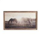 Framed Slat Horses at Sunset Wall Decor Product Image