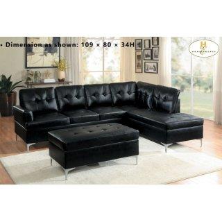 Barrington Ottoman Black