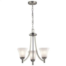 Serina Collection Serina 3 Light Chandelier in Brushed Nickel