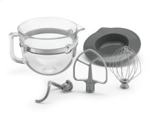 6 QT BOWL LIFT GLASS BOWL - Other