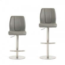 Modrest Gordon Modern Grey Bar Stool