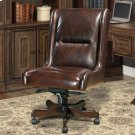 DC#108 Cigar Leather Desk Chair Product Image