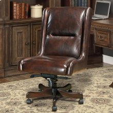DC#108 Cigar Leather Desk Chair