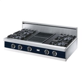 "Viking Blue 42"" Open Burner Rangetop - VGRT (42"" wide, four burners 12"" wide char-grill)"