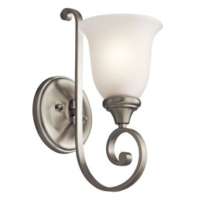 Monroe 1 Light Wall Bracket Brushed Nickel