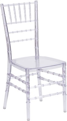 Flash Elegance Crystal Ice Stacking Chiavari Chair