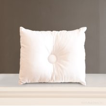 Bebe Pique LG Decorative Pillow White
