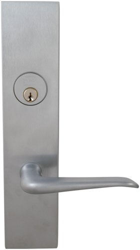 Exterior Modern Mortise Entrance Lever Lockset with Plates in (US26D Satin Chrome Plated)
