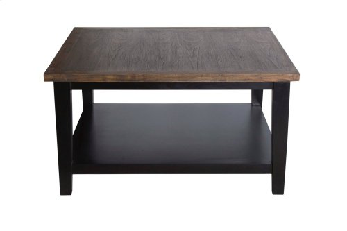 Cocktail Table, Available in Black Teak or White Teak Finish.