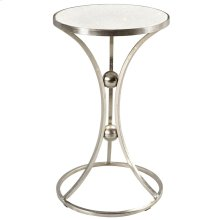 Aura Accent Table in Nickel