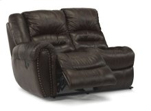 Crosstown Leather LAF Power Reclining Love Seat
