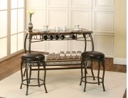 Sunset Trading Tiffany Bar with Built-In Wine Rack & Two Stools Product Image