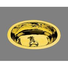 B0912 - Small Lavatory - Plain Pattern - Antique Brass