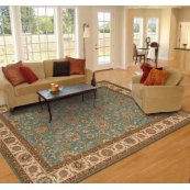 Living Treasures Li05 Aqu Rectangle Rug 27'' X 18''