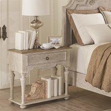 Elizabeth - One Drawer Nightstand - Smokey White/antique Oak Finish