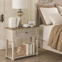 Elizabeth - One Drawer Nightstand - Smokey White/antique Oak Finish