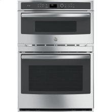 """GE Profile™ Series 30"""" Built-In Combination Convection Microwave/Convection Wall Oven"""