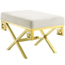 Rove Velvet Performance Velvet Bench in Gold Ivory