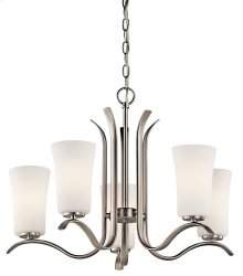 Armida 5 Light Chandelier Brushed Nickel