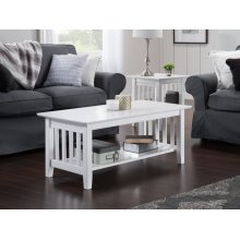 Mission Coffee Table White