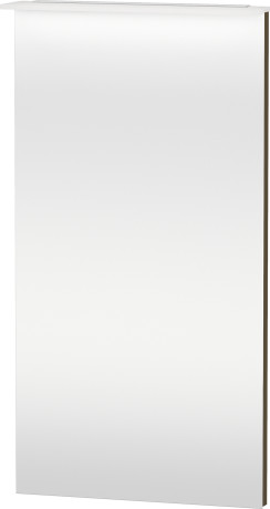 Mirror With Lighting, Olive Brown High Gloss Lacquer