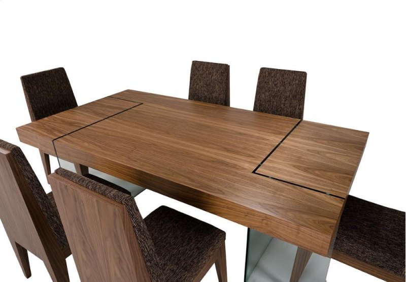 . Aura   Contemporary Walnut Floating Dining Table