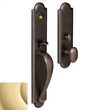Non-Lacquered Brass Boulder Full Escutcheon Trim