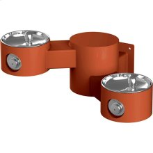 Elkay Outdoor Drinking Fountain Wall Mount, Bi-Level, Non-Filtered Non-Refrigerated, Terracotta