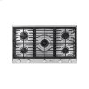 """Renaissance 36"""" Gas Cooktop, in Stainless Steel, Natural Gas"""