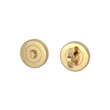 Half Moon Turn & Release Solid In Polished Brass