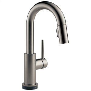 Black Stainless Single Handle Pull-Down Bar/Prep Faucet with Touch Product Image