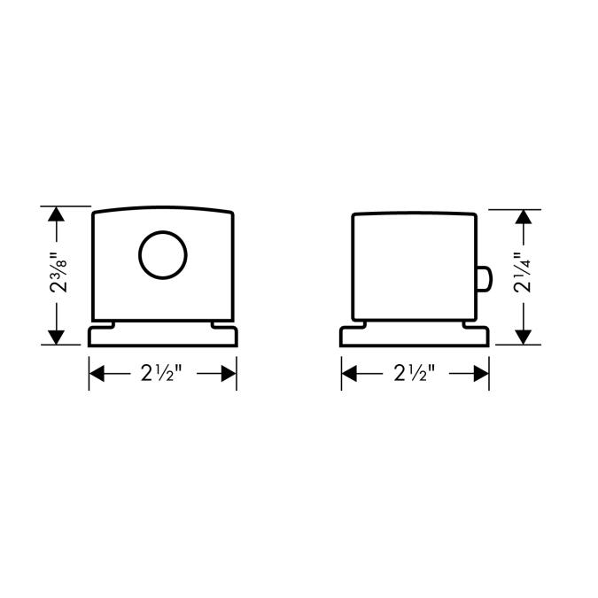 Additional Chrome Trim, 2-Hole Thermostatic Roman Tub Set