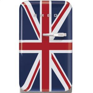 "SmegApprox 16"" 50's Retro Style Mini Refrigerator, Union Jack, Left hand hinge"