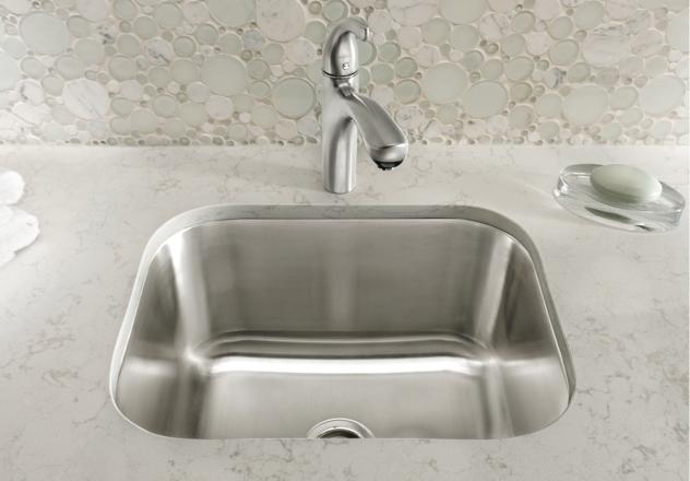 Genial Blanco Stellar® Laundry Undermount   Stainless Steel Refined Brushed Finish