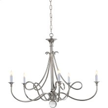 Visual Comfort SC5005PN Eric Cohler Double Twist 5 Light 36 inch Polished Nickel Chandelier Ceiling Light