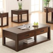 Riata - Rectangular Coffee Table - Warm Walnut Finish