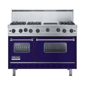 "Cobalt Blue 48"" Open Burner Range - VGIC (48"" wide, six burners 12"" wide char-grill)"