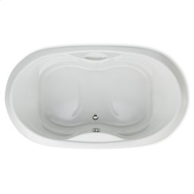 "Easy-Clean High Gloss Acrylic Surface, Oval, MicroSilk® Bathtub, Standard Package, 42"" X 72"""