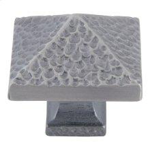 Craftsman Square Knob 1 1/4 Inch - Pewter
