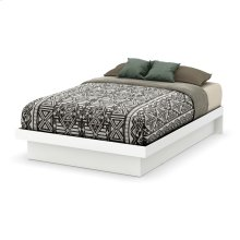 Platform Bed with Moulding - Contemporary Design - Pure White