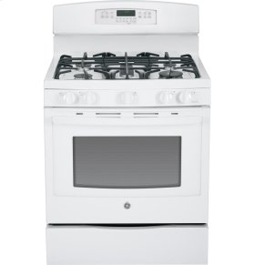 "SCRATCH & DENT GE® 30"" Free-Standing Gas Convection Range"