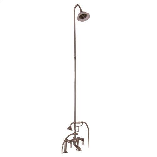 Tub/Shower Converto Unit - Elephant Spout, Riser, Showerhead, Lever Handles - Brushed Nickel