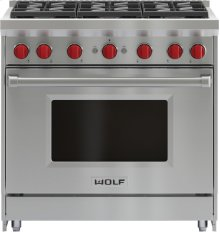 "36"" Gas Range - 6 Burners"