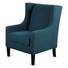 Silk Road Navy Linen Armchair  41in X 33in X 29in  Upholstered Chair