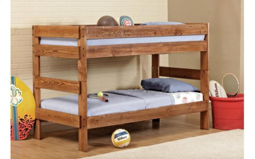 Saddlebrook Stackable Twin over Twin Bunk Bed