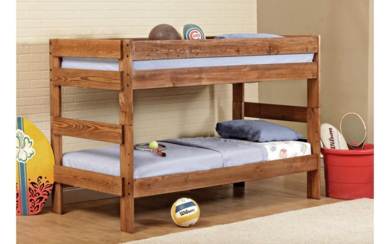 Bernards Saddlebrook Stackable Twin Over Twin Bunk Bed 3310 Home